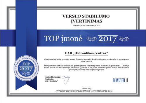 TOP 2017 Hidraulikos centras